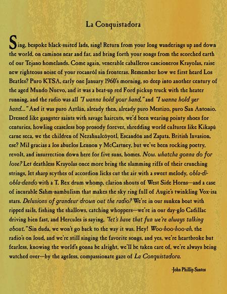 La Conquistadora liner notes